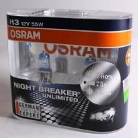 OSRAM Night Breaker Unlimited極地星鑽64151NBU H3贈T10 LED或加價購陶瓷燈座